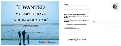 Adoption In Canada Business Card